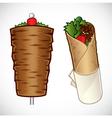 doner kebab vector image vector image