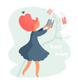 girl taking a book concept vector image