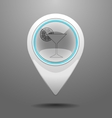 Glossy Club Icon vector image