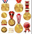 gold medal collection vector image vector image