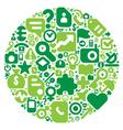 green concept human world vector image vector image