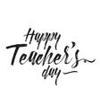 Happy teachers day typography vector image