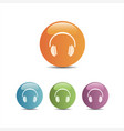 Headphones icon on a colored buttons and white