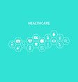 healthcare concept abstract hexagons shape vector image vector image