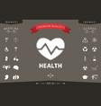 heart symbol - halftone logo vector image vector image