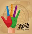 holi celebration design vector image