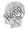 INDUSTRIAL HEMP Cannabis sativa Part text vector image vector image