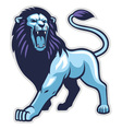 lion stance vector image vector image