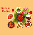 mexican cuisine traditional lunch icon design vector image vector image