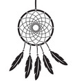 native american indian talisman dreamcatcher vector image vector image