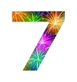Number of colorful firework seven vector image vector image