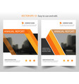 orange triangle annual report leaflet brochure vector image vector image