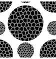 pattern of black mosaic circles vector image vector image