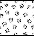 paw grunge footprint dog or cat seamless vector image