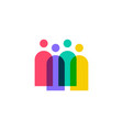 people family together human unity logo icon vector image vector image