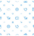 phone icons pattern seamless white background vector image vector image