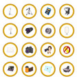 photography set icon circle vector image vector image