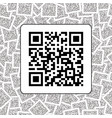 qr code on the qr codes background vector image