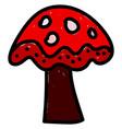 red mushroom on white background vector image