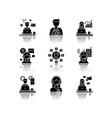 remote jobs drop shadow black glyph icons set