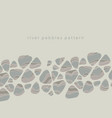 river pebbles hand drawn vector image