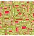 Seamless pattern featuring various kitchen