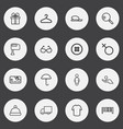 set of 16 editable business outline icons vector image