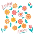 set of flowers and floral elements isolated vector image vector image