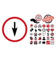 Sharp Down Arrow Flat Icon with Bonus vector image vector image