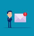 spam mail and virus online dangger flat cartoon vector image vector image