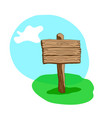 square shape cartoon wooden signpost vector image vector image