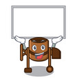 up board concrete mixer character cartoon vector image