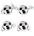 Very angry cartoon football set vector image vector image