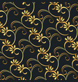 victorian and floral golden background vector image