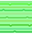 Wavy line green seamless pattern vector image vector image