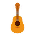 white background with acoustic guitar vector image vector image