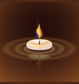 with candle vector image