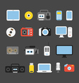 Different color media devices collection Design vector image