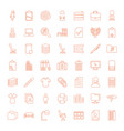 49 office icons vector image vector image