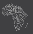 africa state names map vector image
