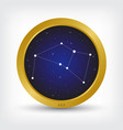 ara constellation in golden circle vector image vector image