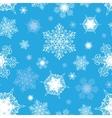 Azure Blue White Ornate Snowflakes Seamless vector image