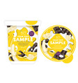 banana chocolate yogurt packaging design template vector image