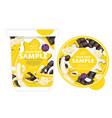 banana chocolate yogurt packaging design template vector image vector image