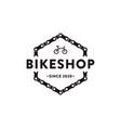 bicycle bike bike shop bike club logo icon vector image