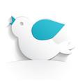 bird icon paper vector image vector image