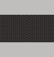 black brick wall texture graphic design vector image