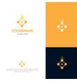 block chain logo design vector image