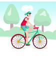 boy riding a bicycle outdoor vector image vector image