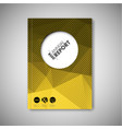 brochure book flyer design template - yellow vector image vector image